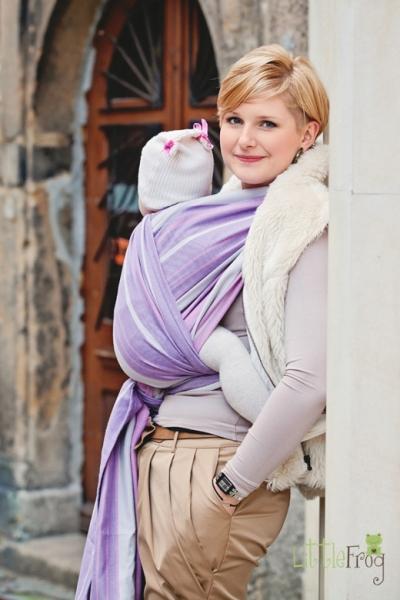 Little FROG Tkaný šátek na nošení dětí - Sugilit - 2. jakost - XS