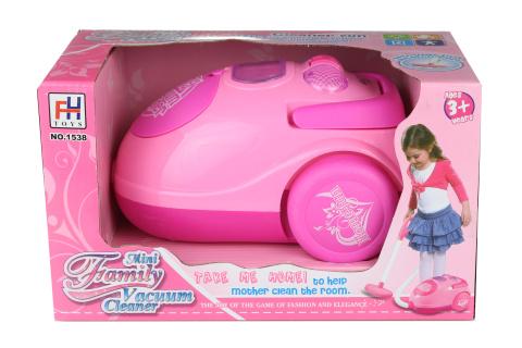 Vysavač růžový na baterie