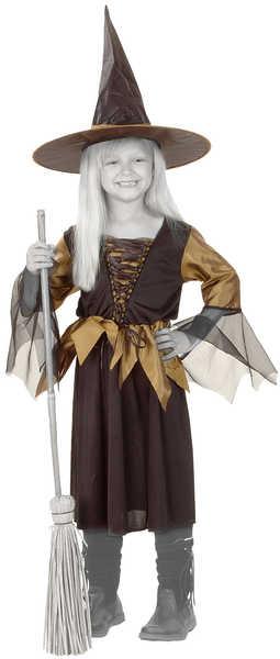 KARNEVAL Šaty ČARODĚJNICE vel. L (130-140 cm) 8-10 let KOSTÝM