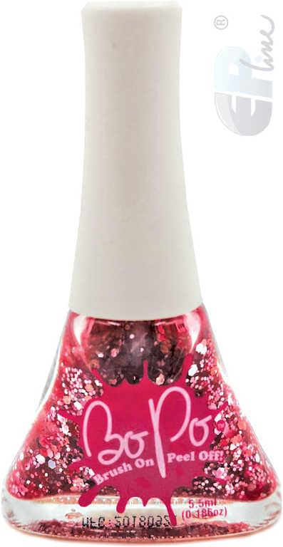 EP Line BO-PO Lak na nehty slupovací růžový se třpytkami Sparkles