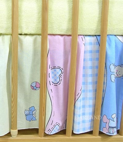 VÝPRODEJ Krásný volánek pod matraci - Čáp modrý - 120x60