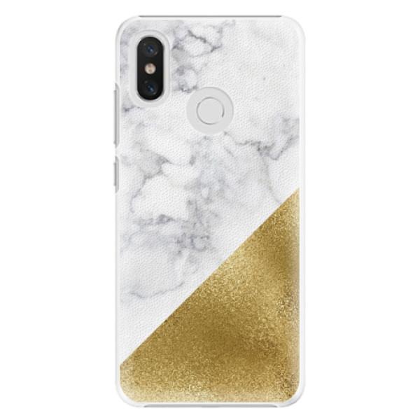 Plastové pouzdro iSaprio - Gold and WH Marble - Xiaomi Mi 8