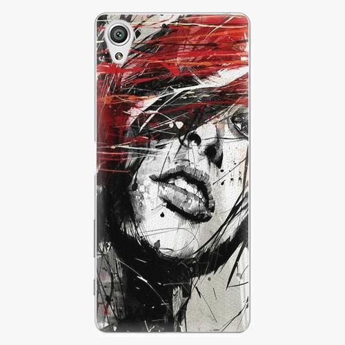 Plastový kryt iSaprio - Sketch Face - Sony Xperia X