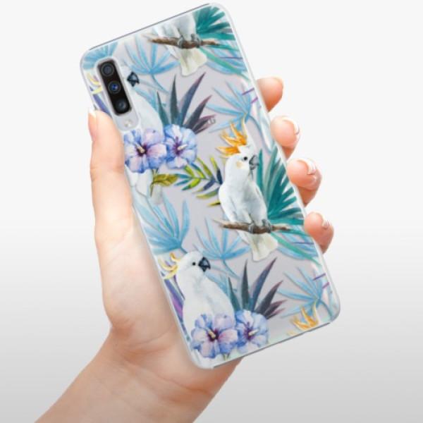 Plastové pouzdro iSaprio - Parrot Pattern 01 - Samsung Galaxy A70