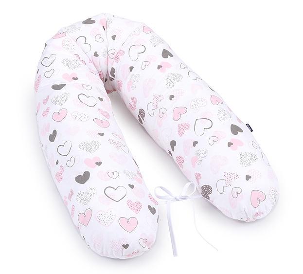 Mamo Tato Kojící polštář - relaxační poduška Srdíčka pastel