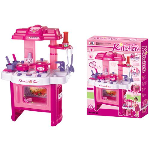 Dětská kuchyňka G21 s příslušenstvím růžová