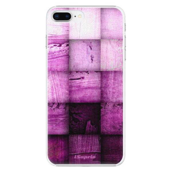 Plastové pouzdro iSaprio - Purple Squares - iPhone 8 Plus