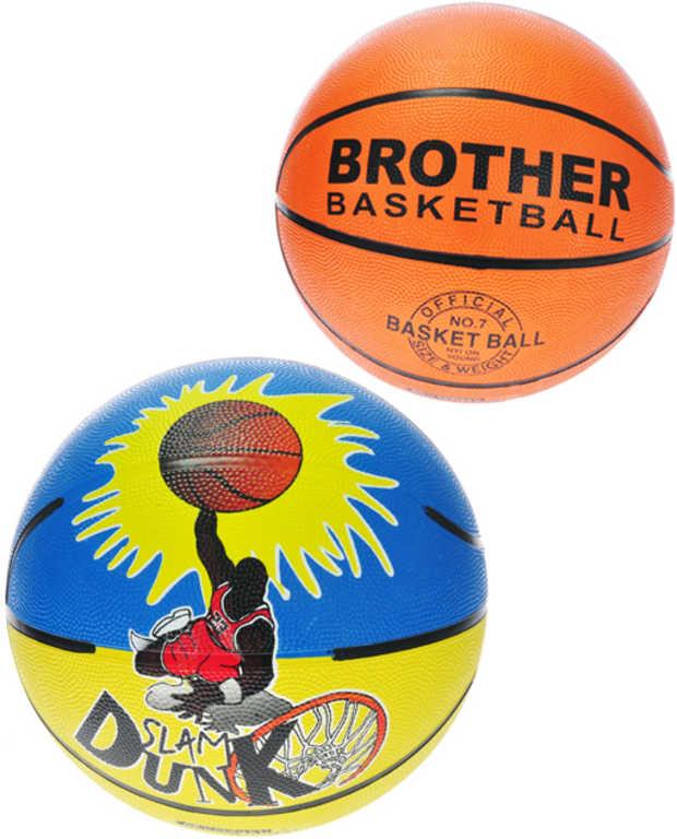 Míč basketbalový 22cm vel.7 na košíkovou 2 druhy