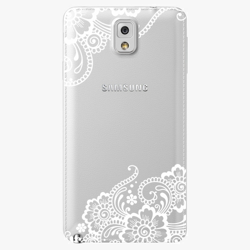 Plastový kryt iSaprio - White Lace 02 - Samsung Galaxy Note 3