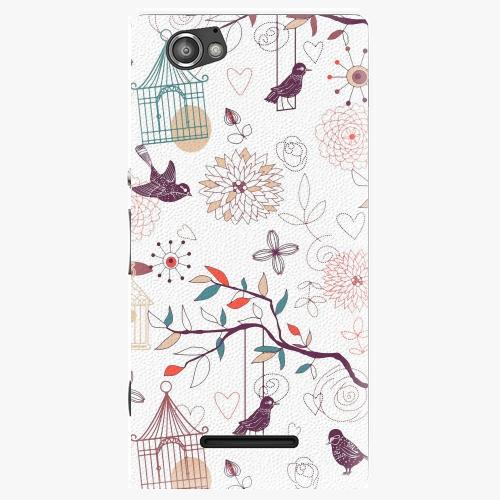 Plastový kryt iSaprio - Birds - Sony Xperia M