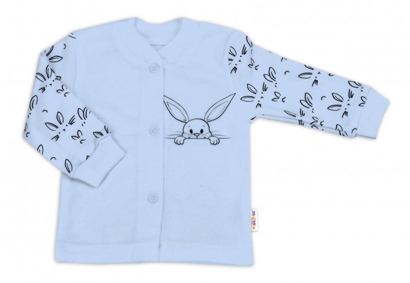 Baby Nellys Bavlněná košilka zap. uprostřed - Králíčci