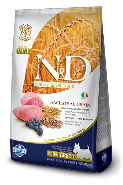 N&D LG DOG Adult Mini Lamb & Blueberry 2,5kg