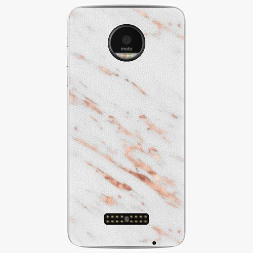 Plastový kryt iSaprio - Rose Gold Marble - Lenovo Moto Z