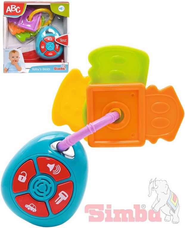 SIMBA Baby autoklíče s dálkovým ovládáním na baterie Zvuk pro miminko