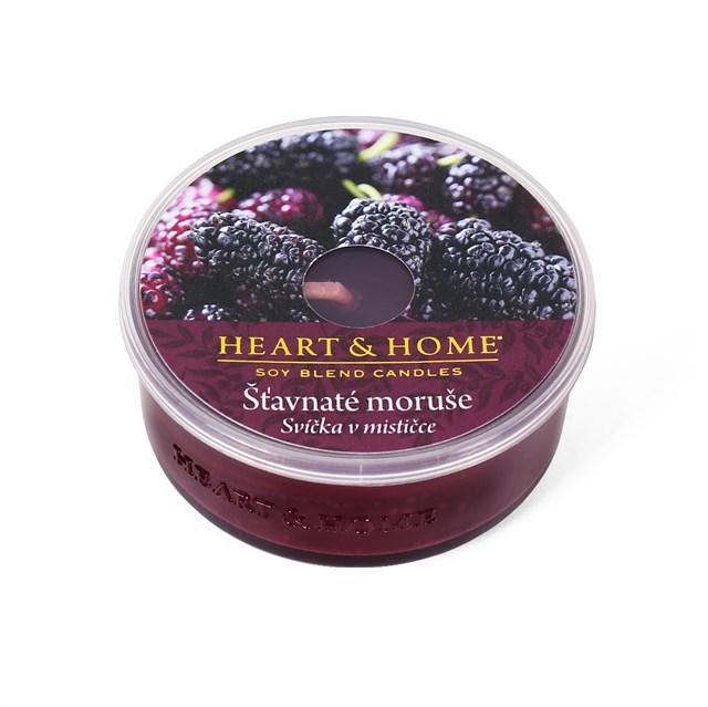 Svíčky v mističce Heart & Home - Vonná svíčka - Moruše