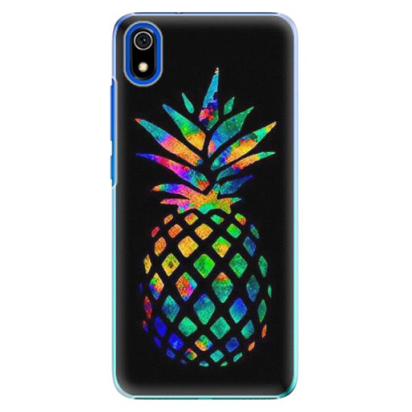 Plastové pouzdro iSaprio - Rainbow Pineapple - Xiaomi Redmi 7A