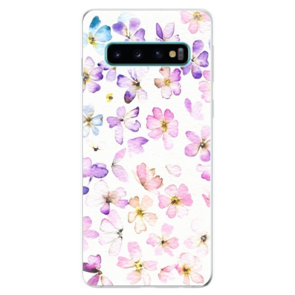 Odolné silikonové pouzdro iSaprio - Wildflowers - Samsung Galaxy S10