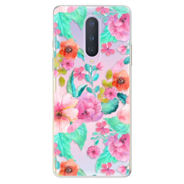 Odolné silikonové pouzdro iSaprio - Flower Pattern 01 - OnePlus 8
