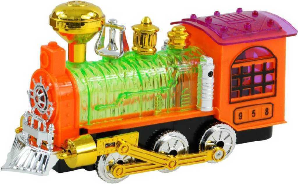 Lokomotiva na baterie 21 cm plastová - 3 barvy