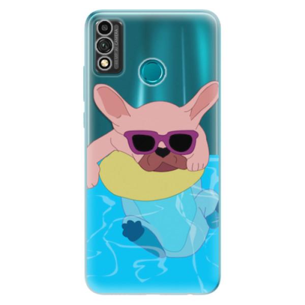 Odolné silikonové pouzdro iSaprio - Swimming Dog - Honor 9X Lite
