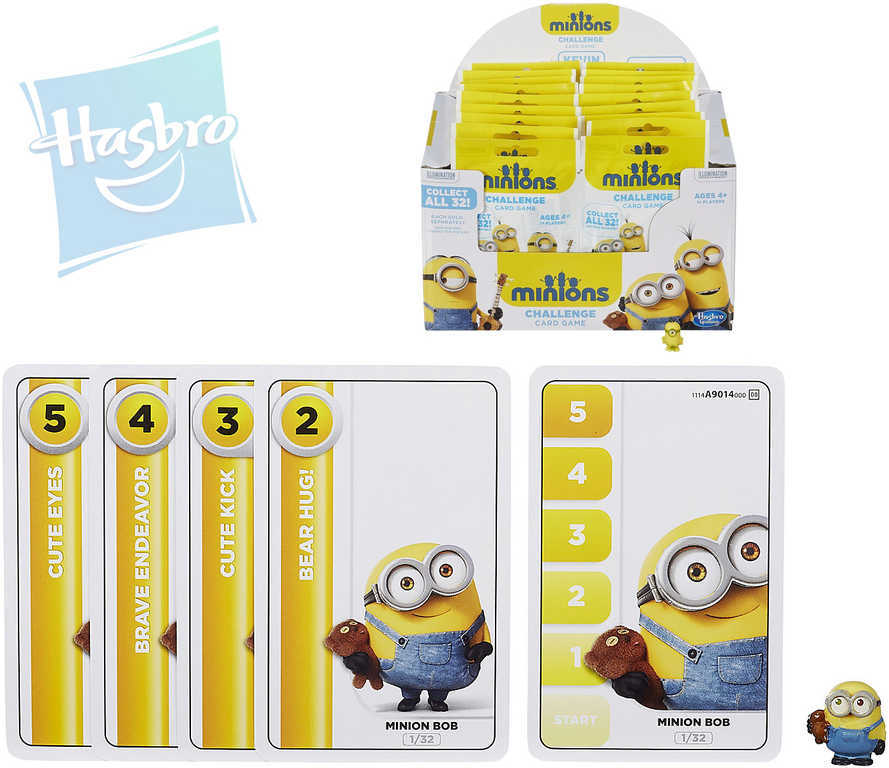 HASBRO HRA Karta hrací Mimoňové (Minions) set s figurkou v sáčku různé druhy