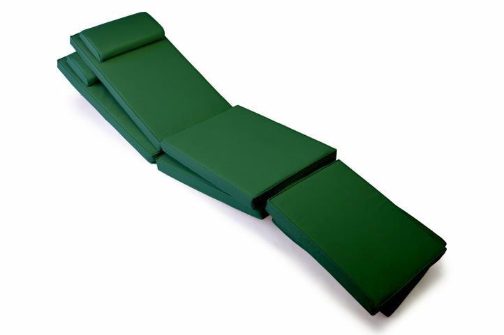 Sada 2 kusů polstrování na lehátka - tmavě zelená