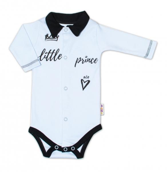 Baby Nellys Body dlouhý rukáv s límečkem