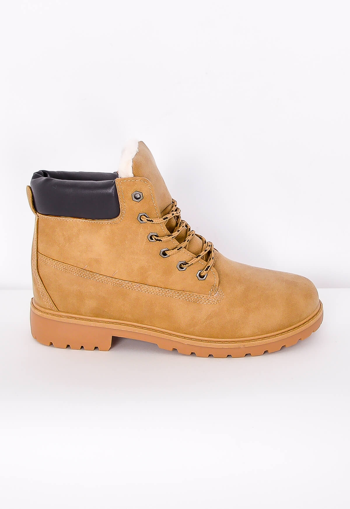 Semišové boty trapery - workery