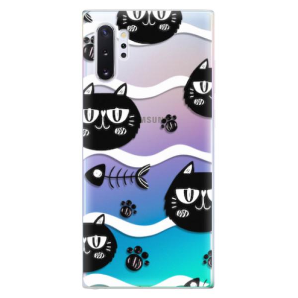 Odolné silikonové pouzdro iSaprio - Cat pattern 04 - Samsung Galaxy Note 10+
