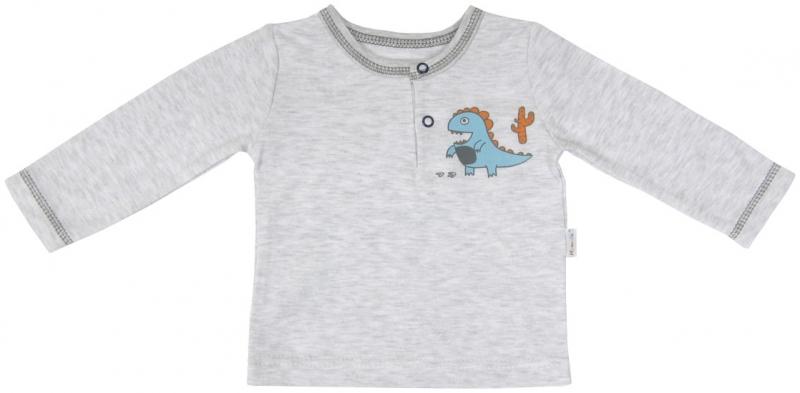 Bavlněné tričko/polo Mamatti - DINO - 74 (6-9m)