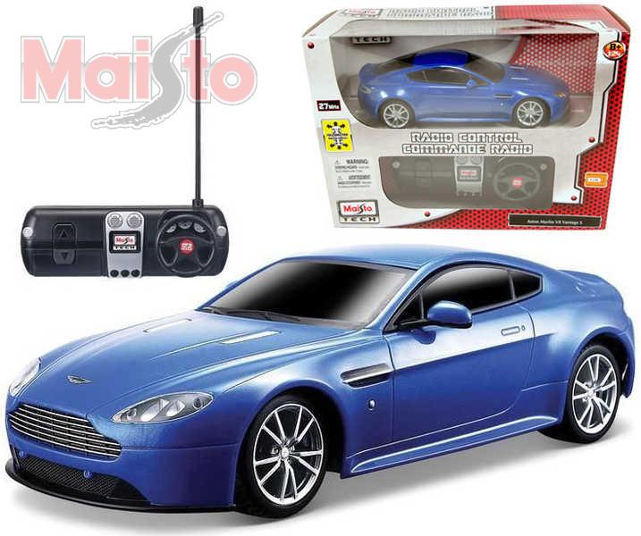 MAISTO RC auto 1:24 Aston Martin V8 Vintage S na dálkové ovládání (na vysílačku)