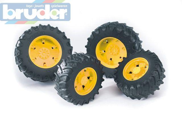 BRUDER 03314 (3314) Dvojitá kola pro traktory řady 3000 - žlutá