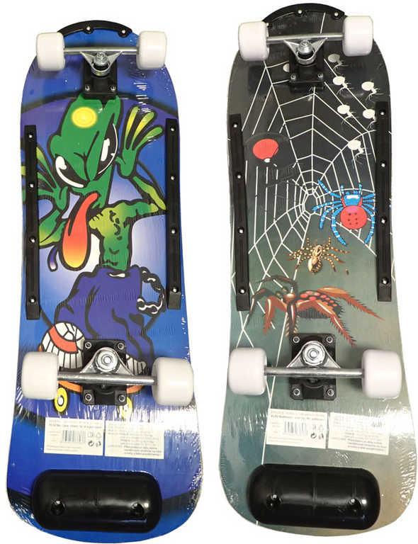 ACRA Skateboard barevný dětský dřevěná deska