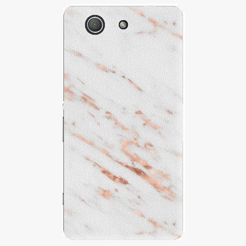 Plastový kryt iSaprio - Rose Gold Marble - Sony Xperia Z3 Compact
