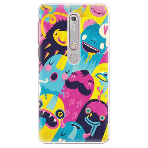 Plastové pouzdro iSaprio - Monsters - Nokia 6.1