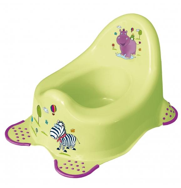Keeeper Nočník Hippo s protiskluzem - limetka