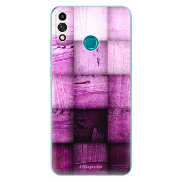 Odolné silikonové pouzdro iSaprio - Purple Squares - Honor 9X Lite