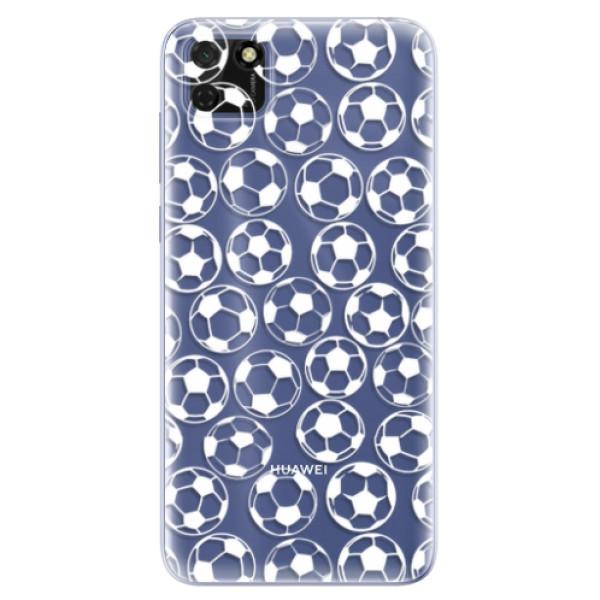 Odolné silikonové pouzdro iSaprio - Football pattern - white - Huawei Y5p