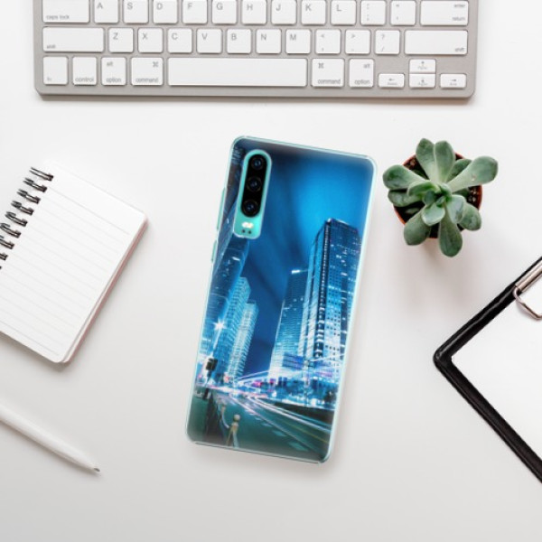 Plastové pouzdro iSaprio - Night City Blue - Huawei P30