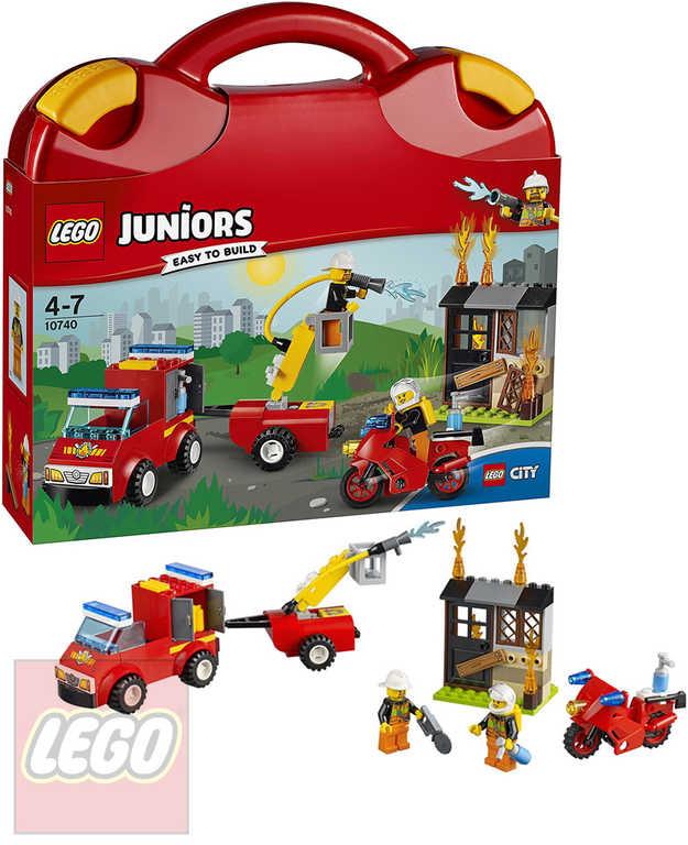 LEGO JUNIORS Kufřík hasičské hlídky 10740 STAVEBNICE