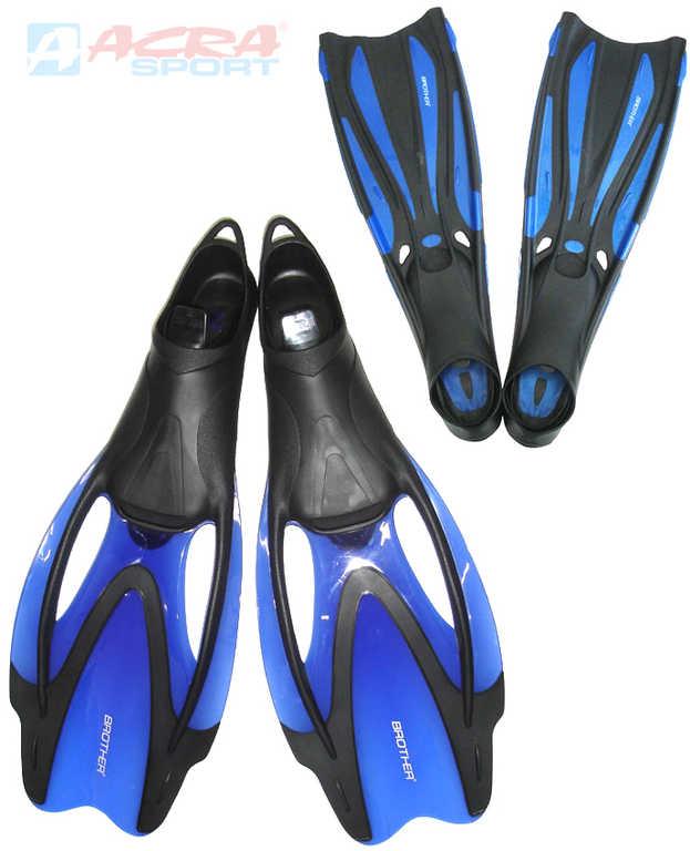 ACRA Ploutve potápěčské do vody vel. EU 37-40 modré Brother Coral guma