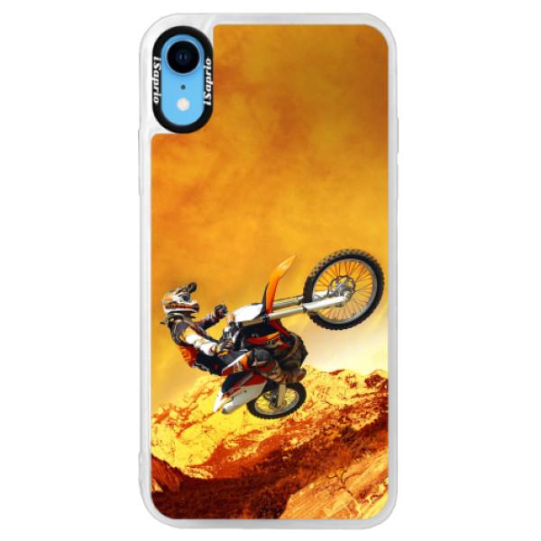 Neonové pouzdro Pink iSaprio - Motocross - iPhone XR