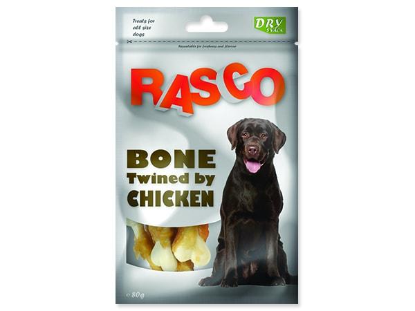 Pochoutka RASCO Dog kosti obalené kuřecím masem 80g