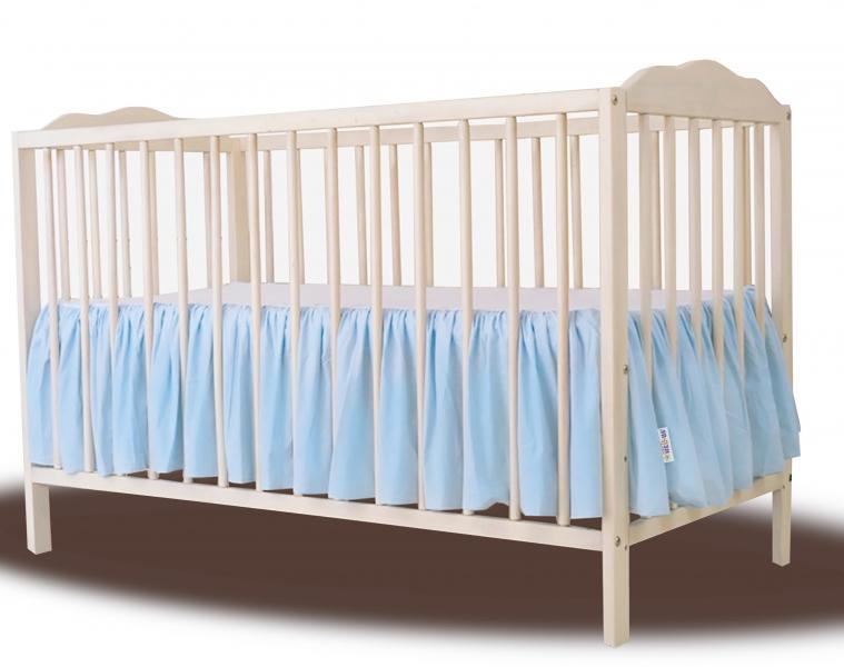 Baby Nellys Bavlněný volánek pod matraci - sv. modrý - 120x60