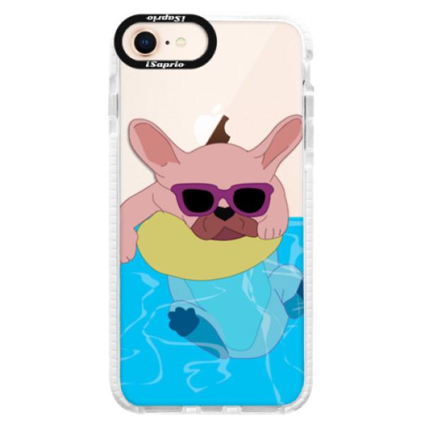 Silikonové pouzdro Bumper iSaprio - Swimming Dog - iPhone 8