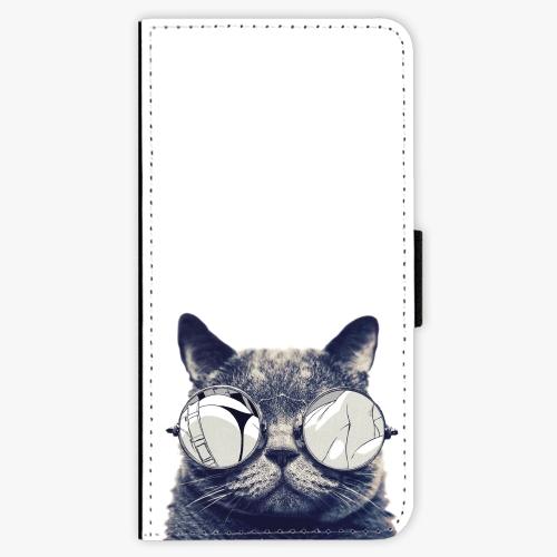 Flipové pouzdro iSaprio - Crazy Cat 01 - Lenovo Moto G5 Plus