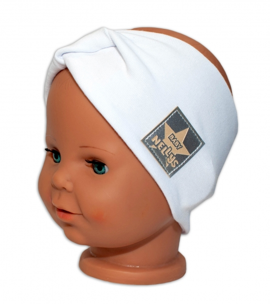 baby-nellys-hand-made-bavlnena-celenka-dvouvrstva-bila-44-48-cm-3-7-let