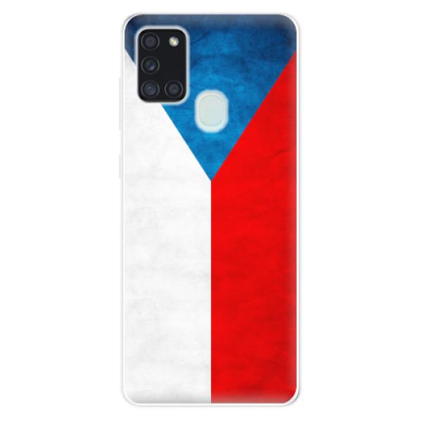 Odolné silikonové pouzdro iSaprio - Czech Flag - Samsung Galaxy A21s