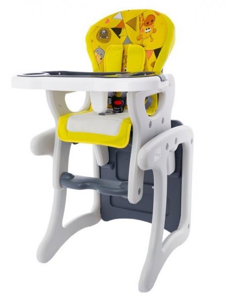 Euro Baby Jídelní stoleček 2v1 - ZOO žluté