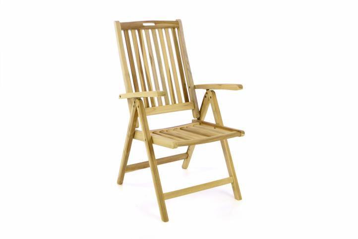 Zahradní skládací židle dřevěná DIVERO